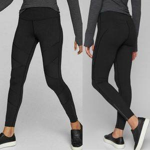 Athleta Sophia Street Tight Black Moto Leggings